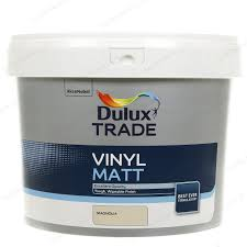 dulux trade vinyl matt emulsion interior paint 10l magnolia