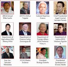 The Presidential Cabinet Quick List Of President Rodrigo Duterte Cabinet Members Ph Trending