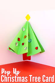 pop up tree pop up christmas tree card that kids can make