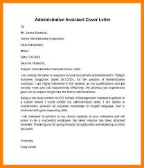 administrative assistant cover letter receptionist administrative