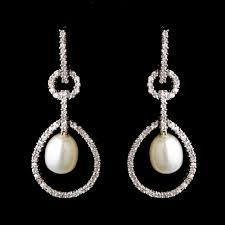 bridesmaid pearl earrings pearl rhinestone bridal earrings bridal