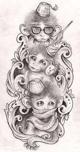 see no evil hear no evil speak no evil monkey tattoo tattooed