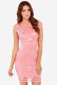 dress pink lace pink dress oasis fashion
