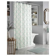 threshold trellis shower curtain white mint house ideas