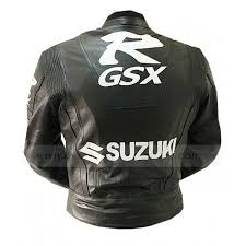 Cowhide Leather Vest Suzuki Gsxr Jacket Black Leather Motorcycle Jacket