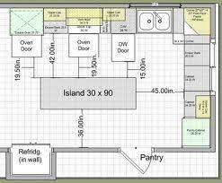 standard kitchen island size kitchen island size