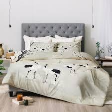 Japanese Comforters Belle13 Winter Love Dance Of Japanese Cranes Fleece Throw Blanket