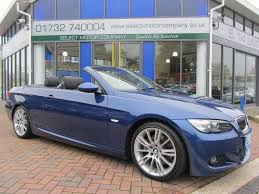 used bmw 3 series uk used bmw 3 series 2008 petrol 325i m sport convertible blue