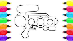 water gun coloring pages and drawings with colorful markers art