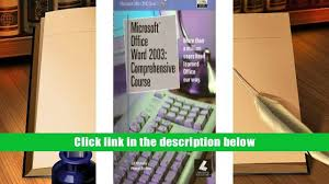 download microsoft office word 2003 comprehensive course
