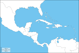 Blank America Map by Central America Map Stock Photo Stock Images Bigstock Political