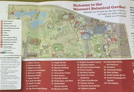 Botanical Gardens St Louis Hours Map Of The Botanical Garden Picture Of Missouri Botanical Garden