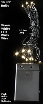 rice lights battery operated battery rice lights 20 led warm white black wire buy now