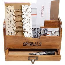 Desk Letter Organizer Nc Multifunction Wooden Home Office Desk Paper File Letter Mail