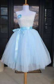 womens tutu soft baby blue tulle skirt light blue tutu