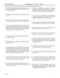 work and energy worksheet free worksheets library download and