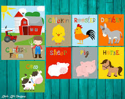 Barn Animal Party Supplies Farm Nursery Decor Farm Nursery Art Farm Room Decor Kids