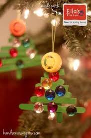 easy and cute diy christmas crafts for kids to make button tree