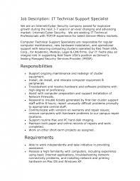template help desk technician job description sample