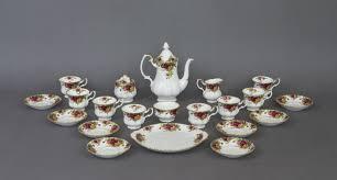 country roses tea set royal albert 21 tea set country catawiki