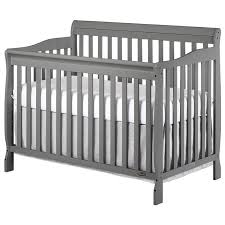Gray Convertible Crib On Me Ashton 5 In 1 Convertible Crib In Gray 660 Sgy
