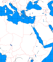 Southwest Asia And North Africa Blank Map by Blank Map Of Europe North Africa And Middle East Calendar