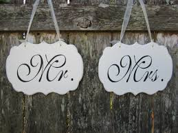 mr mrs sign for wedding table mr and mrs wedding chair signs wedding chair signs
