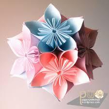membuat hiasan bunga dari kertas lipat 手作りの世界 desember 2010