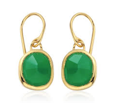 green earrings siren wire earrings in 18ct gold vermeil on sterling silver with