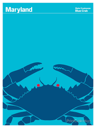 print collection maryland blue crab