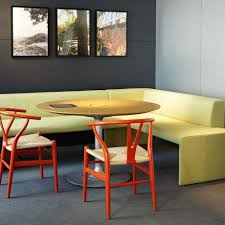S Shaped Bench Beautiful Contemporary Corner Dining Set Come With Yellow L Shaped