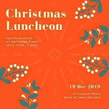 christmas brunch invitations luncheon invitation templates canva