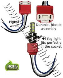 h4 socket with pigtail wires other led lights ledlight