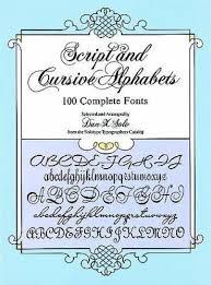 script and cursive alphabets 100 complete fonts lettering