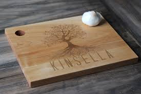 personalized engraved cutting board personalized wood cutting board family tree rc tree 46 00