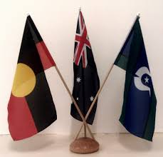 Austrslia Flag Australian Aboriginal And Torres Strait Islander Desk Flag Set