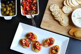 bruschetta and afternoon snacks