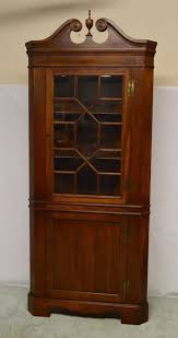 Corner Glass Display Cabinet Ebay Mahogany Corner Cabinet Ebay