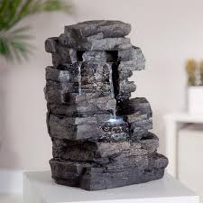 table top water fall amazon com alpine win220 waterfall tabletop fountain with white