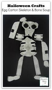 halloween crafts egg carton skeleton and bone soup