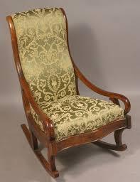 vintage upholstered rocking chair siji u2013 plushemisphere