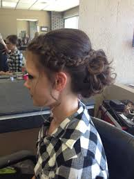 homecoming hair braids instructions formal updo for prom this year curled bun with french braid