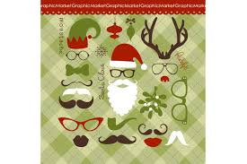 christmas photo booth props digital christmas photo booth props illustrations creative market