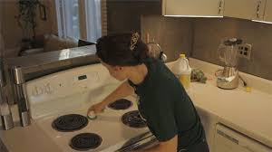 video how to clean a greasy buildup on a kitchen stove ehow