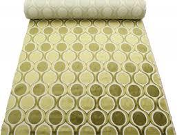 Green Velvet Upholstery Fabric Designer Dfs Cut Velvet Large Retro Vintage Circle Spots Funky