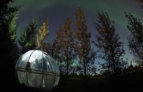 sleep under the northern lights icelandic bubble hotel lets you sleep under the northern lights