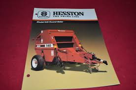 hesston 540 round baler dealer u0027s brochure dcpa2 u2022 13 49 picclick