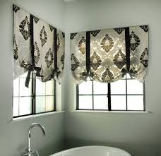 window treatments for bathrooms drapestyle