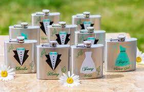 and groom flasks groom groomsmen bridesmaid of honor best flask