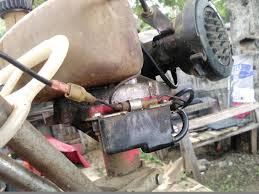 two cycle engine on a small tiller wont start it has new gas new